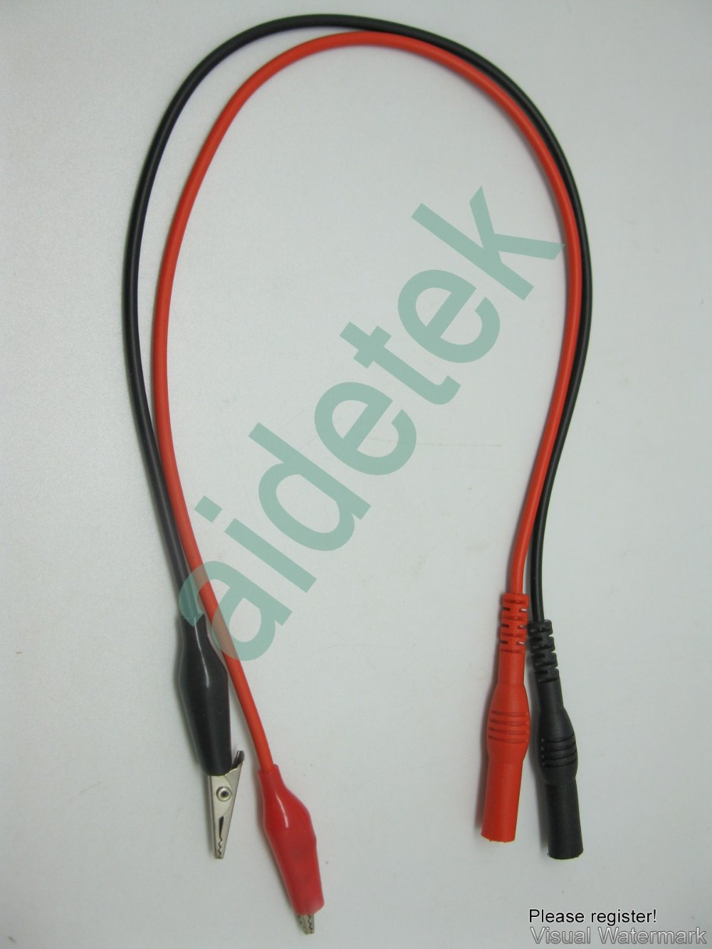 Insulated Alligator clips test leads wire banana plug 4 FLUKE DMM ...