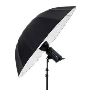 """Image 2 - Godox 150 cm 60 """"Inches Fotografie Studio Paraplu voor Fotostudio van Zachte Verlichting Out In Zwart Binnenkant Van Zilveren Paraplu"""
