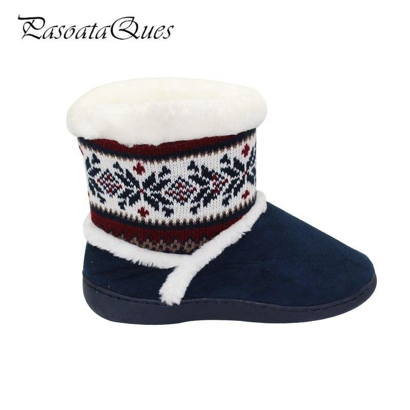 rojo Zapatos Pasoataques Mujeres Transpirable Marca Invierno Cálido Casa Mujer Azul Otoño 2017 Hl3185 Planos Zapatillas De Suave a8q4q7x