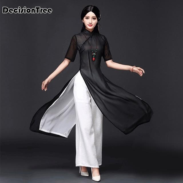 51a59e75e80 2019 new vietnam aodai chinese traditional dress chinese dress qipao long chinese  cheongsam dress robe chinoise modern cheongsam