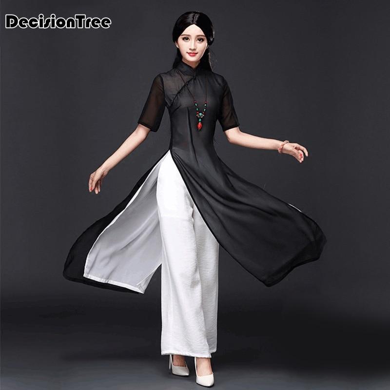 e61ff6e83e2d 2019 nové vietnamu aodai čínské tradiční šaty qipao čínské šaty ...