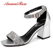 ANMAIRON New Fashion Women  Basic Casual Shoes Woman High Heel Sandals Sandalias De Mujer Verano 2018 Size 34-39 LY334