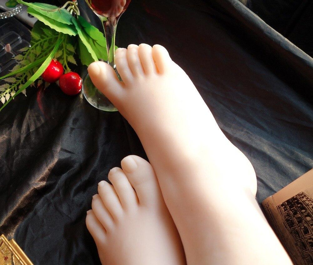 New White Sox Girls Foot Fetish foot model simulation fake beautiful woman sexy feet worship shipping