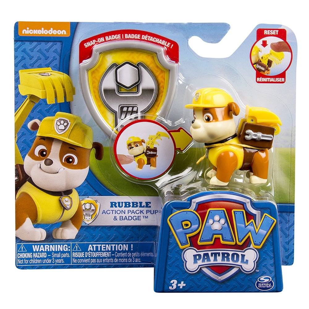 Genuine Paw Patrol Action Pack Pup U0026 Badge Rubble Zuma Chase Marshall Skye  Apollo Rocky With Badge In Action U0026 Toy Figures From Toys U0026 Hobbies On ...