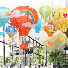 Paper Rainbow Convenient-Suspension Holiday-Decoration Hot-Air-Balloon Clouds-Pattern