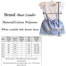 Bear Leader Girls Clothing Strap Dress Sets Shirt+Dress/Denim Dress