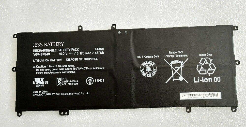 Hot sale Replacement laptop battery for SONY SVF 15A SVF15N17CXB 14A SVF14N SVF14NA1 VGP-BPS40 BPS40 pitatel sony vgp ac19 v10 v11 v12 v24 v26 19 5v 4 7a ad 128 d na 872