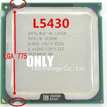free shipping L5430 2.66GHz/12M/1333Mhz/CPU equal to LGA775 Quad-Core Q8200 Q830000 Q8400 CPU,works on mainboard no need adapter