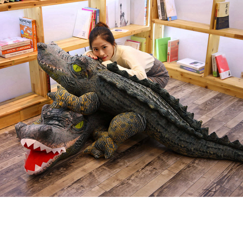35-115cm Stuffed Animal Real Life Alligator Plush Toy Simulation Crocodile Dolls Kawaii Ceative Pillow For Children Xmas Gifts