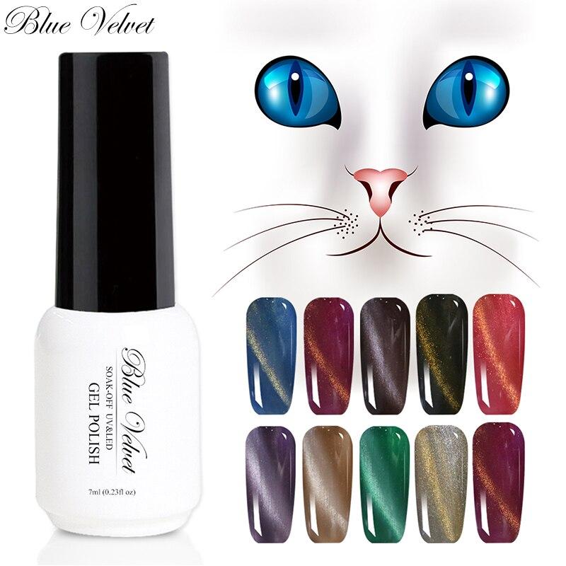 Blue Velvet Charming Magnetic Nail Gel Polish Cat Eyes