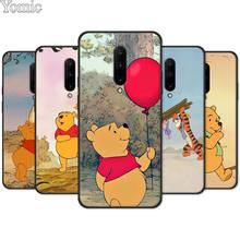 Cartoon Winnie Pooh Bear Tigger Piglet Black Case for Oneplus 7 7 Pro 6 6T 5T Silicone Phone Case for Oneplus 7 7Pro Soft Cover
