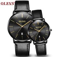 Olevs пару часов для любителей лучший бренд класса люкс Водонепроницаемый Повседневное Стиль Новая мода ультратонких кварцевые часы высококачественным