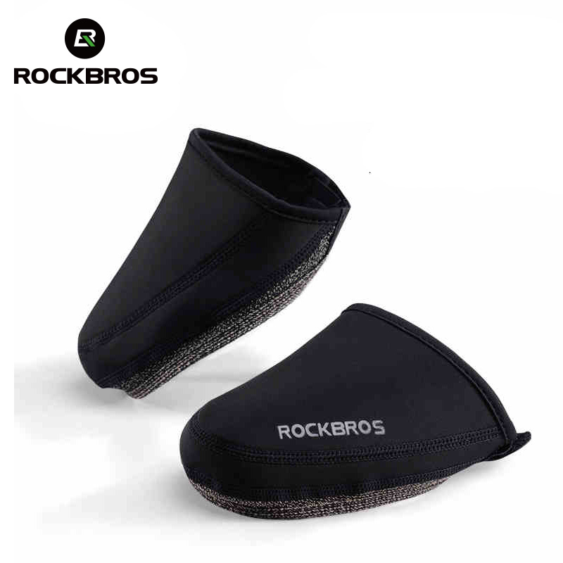 ROCKBROS Cycling Shoes Cover Windproof Abrasion Resistant Fabric Keep Warm Half Overshoe MTB Road Bicycle Shoe Covers Black