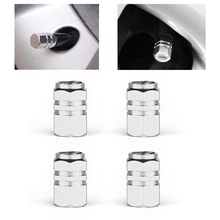4pcs Auto Bicycle Car Tire Valve Caps Tyre Wheel Hexagonal Ventile Air Valve Stems Cover Dustproof Tire Accessories