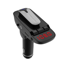 Car Kit Headset FM transmitter Bluetooth Handsfree AUX Audio Music MP3 Player USB Charger Support TF Card / U Disk Play new handsfree wireless bluetooth car kit fm transmitter radio support u disk mp3 player phone app control car charger aux out