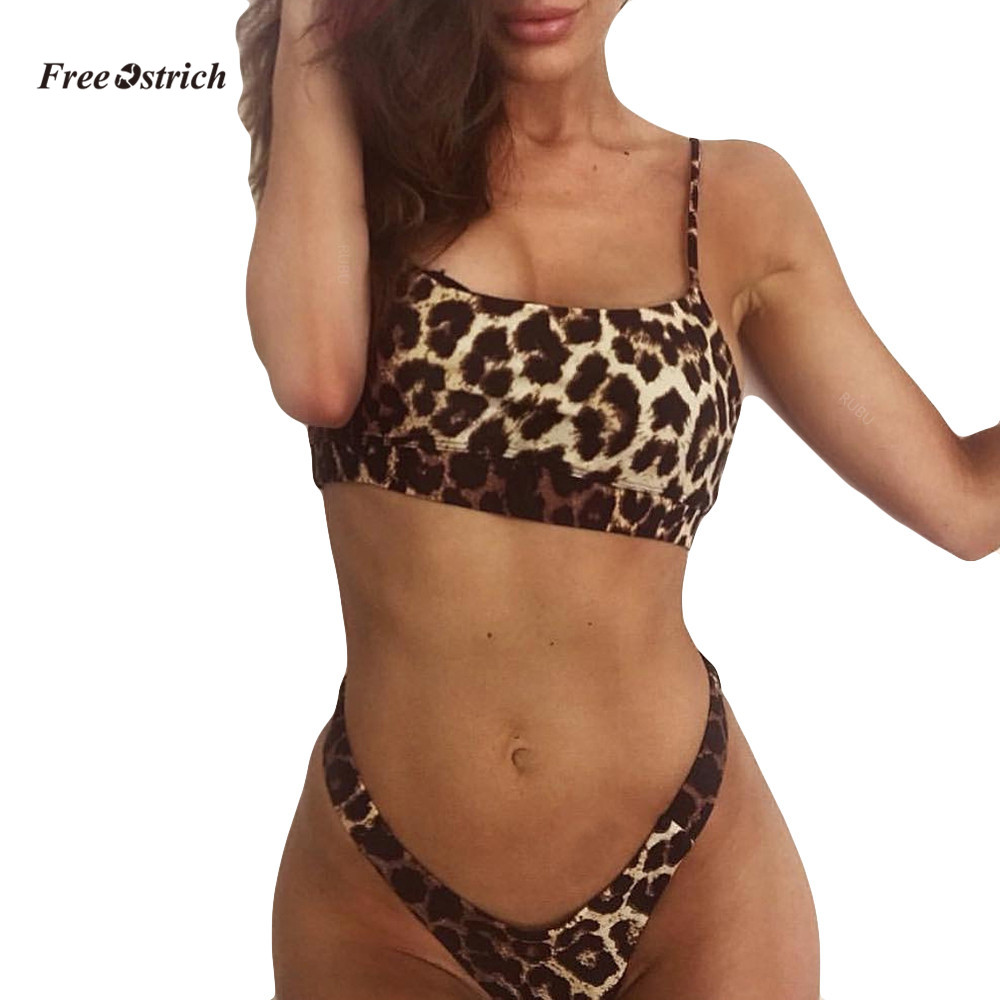 Free Ostrich Clothes Underwear Summer Women Print Sweet Bodysuit Wear High Waist Push Up Biquini Brazilian One-piece Underwear Women's Intimates Underwear & Sleepwears