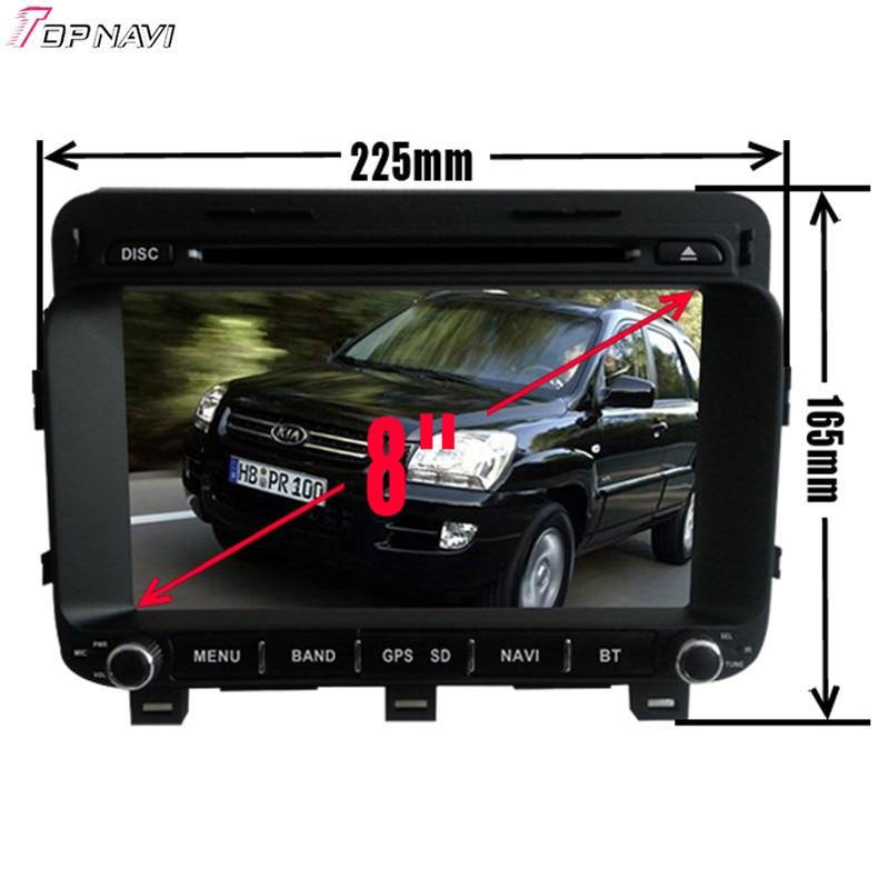 Topnavi 8 ''Quad Core Android 6.0 voiture DVD jouer pour KIA K5/OPTIMA 2014-/Magentis Autoradio GPS Navigation Audio stéréo - 2