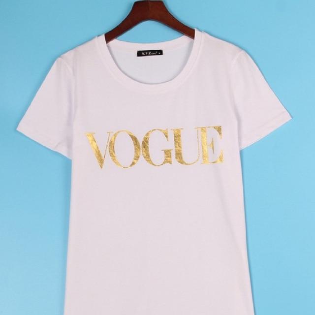 VOGUE Printed T-shirt Women Tops Tee Shirt  4