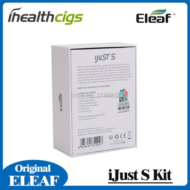 100% Original Eleaf iJust S Kit 3000mah iJust S Battery with 4ml iJust S Atomizer ECL 0.18ohm Head iJust Kit
