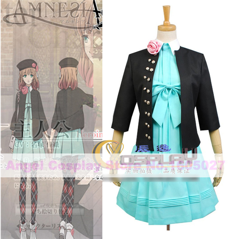 Anime AMNESIA Heroine Lolita Dress cosplay costume Girls Party Dress Full set Halloween carnival Costume for women Custom made