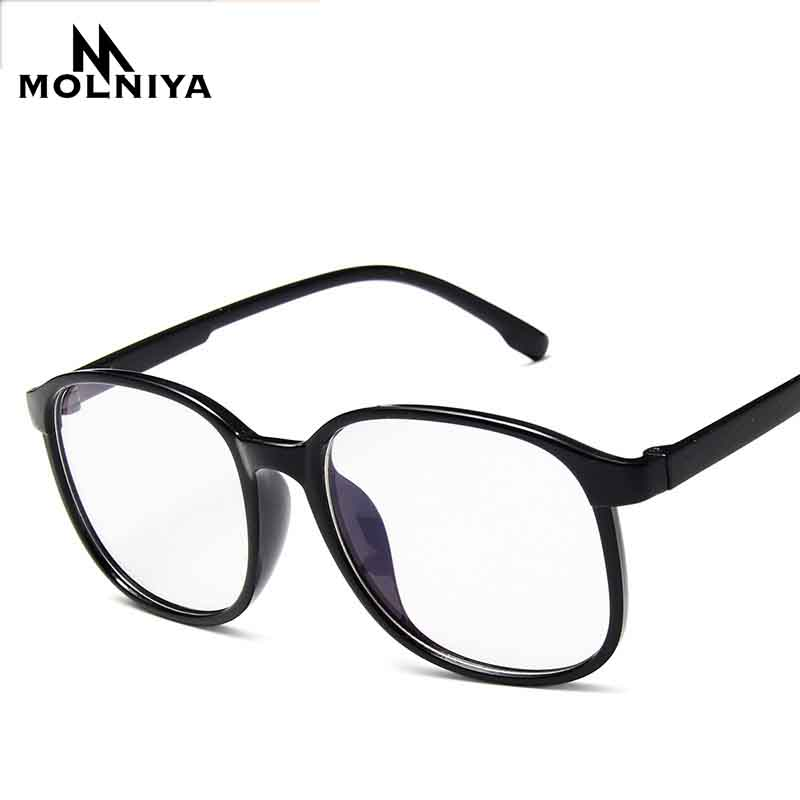 2019 Men Square Optical Eye Frame Glasses Women Light Myopia Eyeglasses Solid Color Leopard Big Frames Glasses(China)