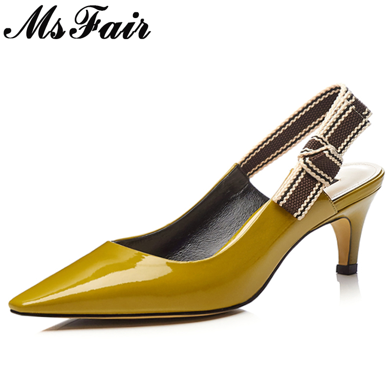 MsFair Pointed Toe Thin Heels Women Sandals Fashion Butterfly-knot High Heel Sandals 2018 Summer Mixed Colors Women's Sandals msfair women square toe wedges sandals fashion butterfly crystal high heels woman sandals 2018 new summer women high heel shoes
