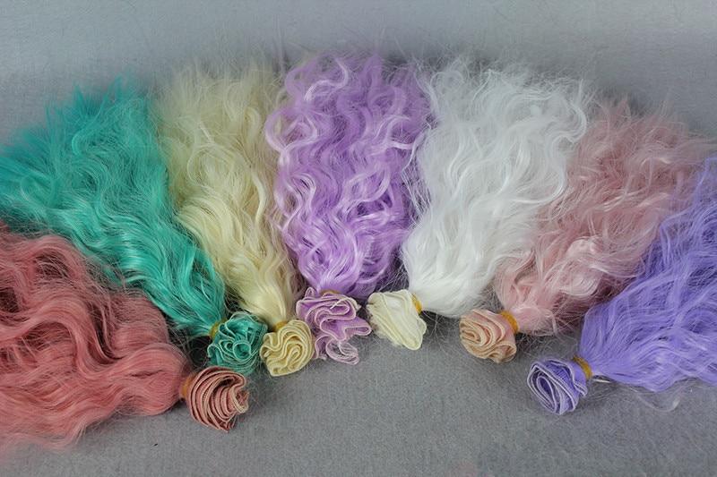 5pcs / lot NOUVEAU maïs perruque ondulée bouclée bricolage - Poupées et accessoires - Photo 5