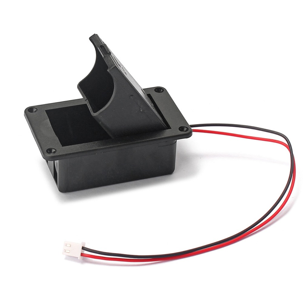 1PC 9V Battery Holder Case Box Cover For Guitar Bass Active Pickup Connector