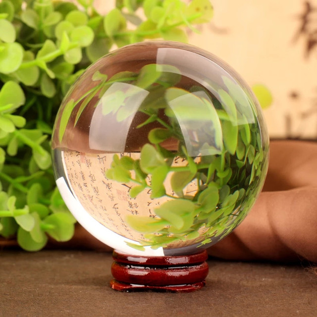 1pcs Transparent glass decorative ball wedding dress photography accessories quartz ball feng shui financial fortune