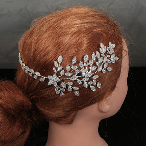 Image 3 - HADIYANA diadèmes et couronnes, joli motif de feuille à fleur, tendance, élégant pour femme, luxe de haute qualité, BC4763