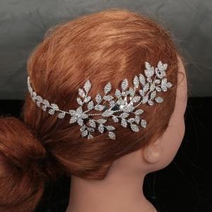 Image 3 - Tiaras와 Crowns HADIYANA 여성을위한 우아한 유행 사랑스러운 꽃 잎 디자인 고급 고품질 BC4763 Haar Sieraden Bruiloft