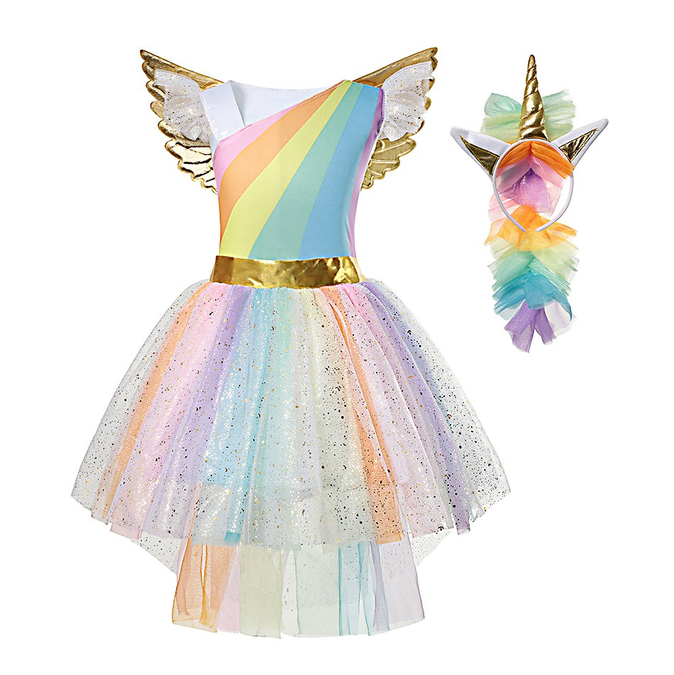 Rainbow Unicorn Dress (1)