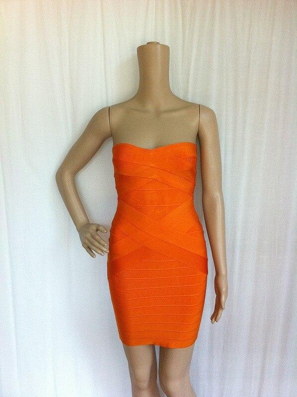Ким Кардашьян, без бретелек, с открытыми плечами,, сексуальное женское платье, вискоза, бодикон, опт, дешевые мини обнаженные платья - Цвет: X Orange