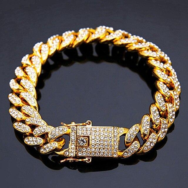 Hip Hop Bracelet Men Thick...