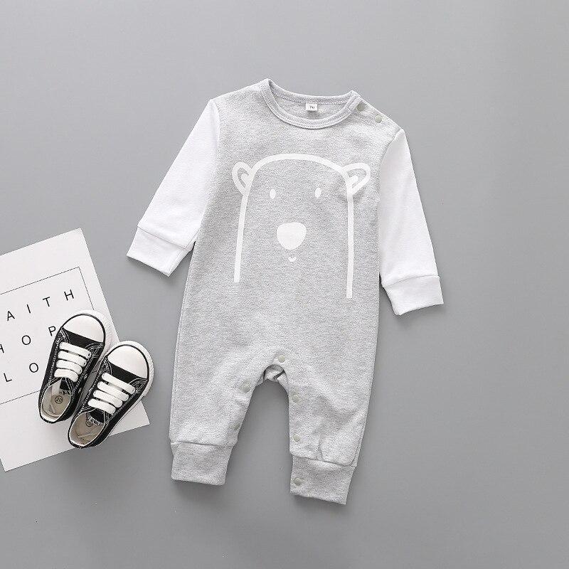 Cute animals Spring Baby romper newborn baby clothes Kids long sleeve underwear cotton boys Clothes