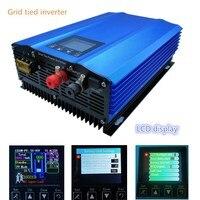 Новый 1000 Вт сетевой инвертор для PV DC Вход: 26 В 45 В или 24 В разряда батареи аккумулятор рекуперации энергии жидкокристаллический дисплей Чист