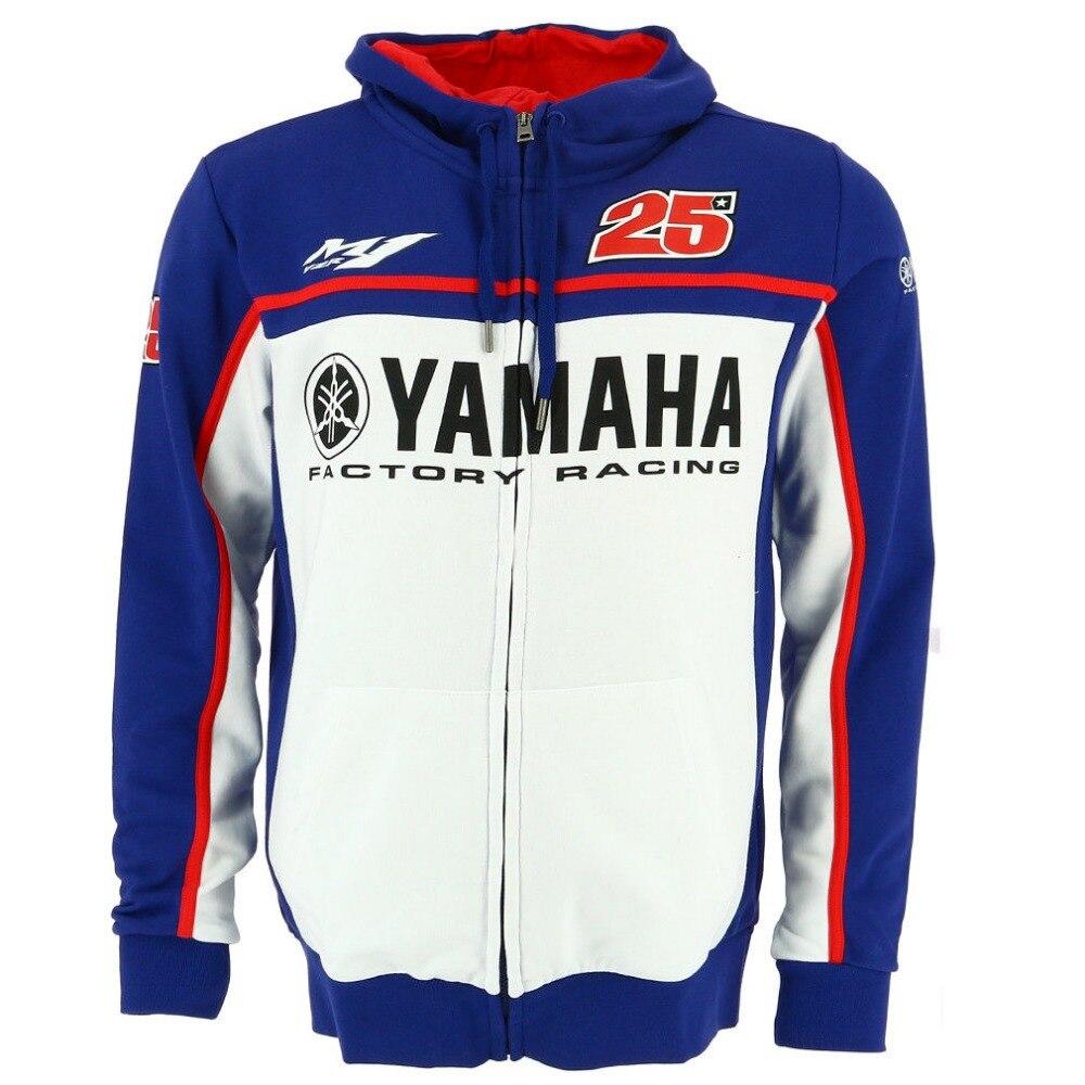 2018 Maverick Vinales 25 Moto GP pour Yamaha usine course à capuche adulte à capuche sport sweat vestes bleu