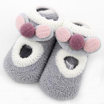 Baby Girl Boy Kid Spring Winter warm Socks Infants Thicken Coral Fleece cotton Flooring Socks