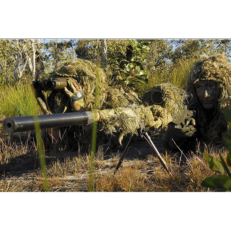 Camouflage tactique chasse Ghillie costumes secret chasse vêtements Sniper costume chasse vêtements armée Camouflage Airsoft uniforme