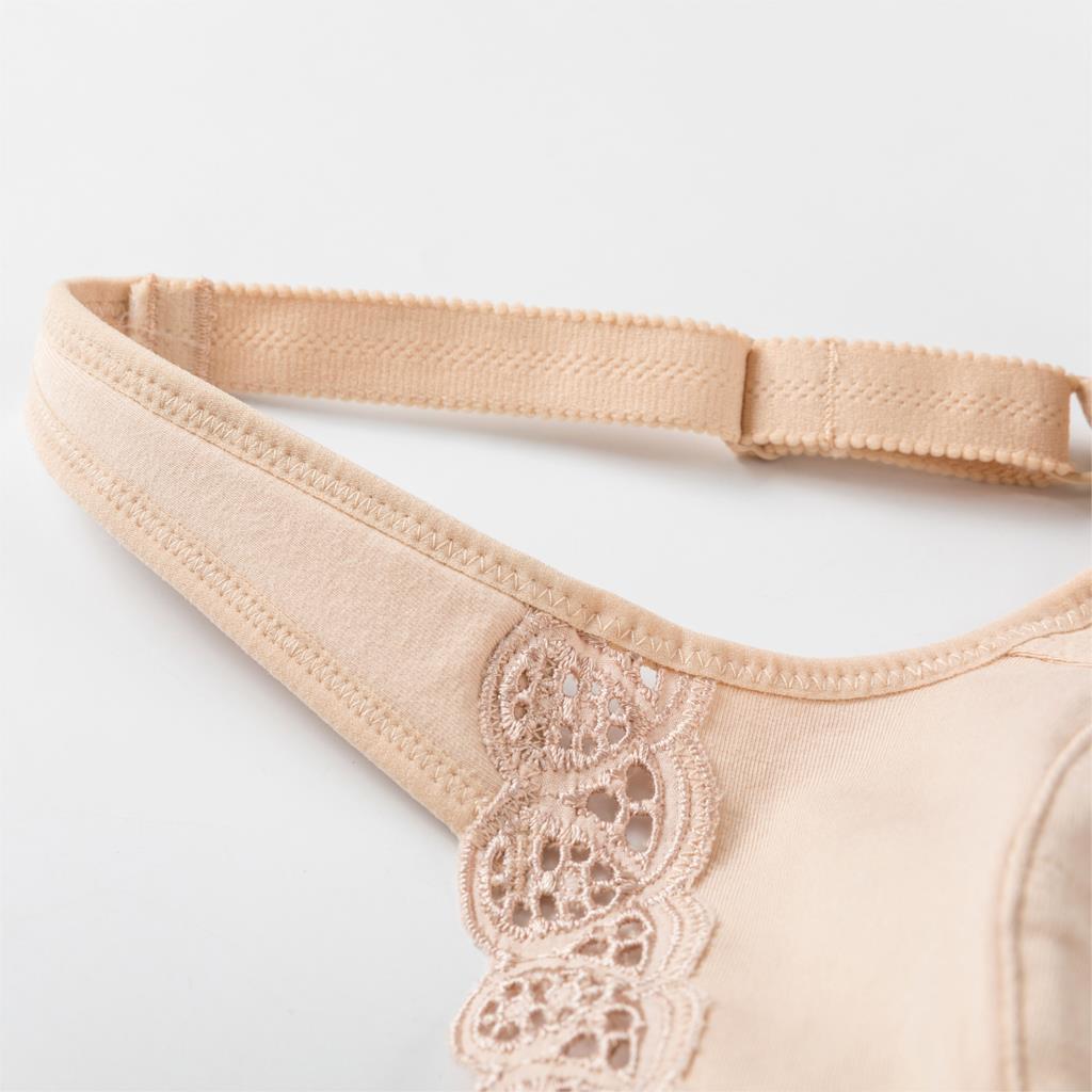 Image 5 - المرأة التغطية الكاملة الدانتيل حجم كبير غير مبطن حمالة صدر قطن B C D E F G H I J-في حمالات الصدر من ملابس داخلية وملابس نوم على AliExpress