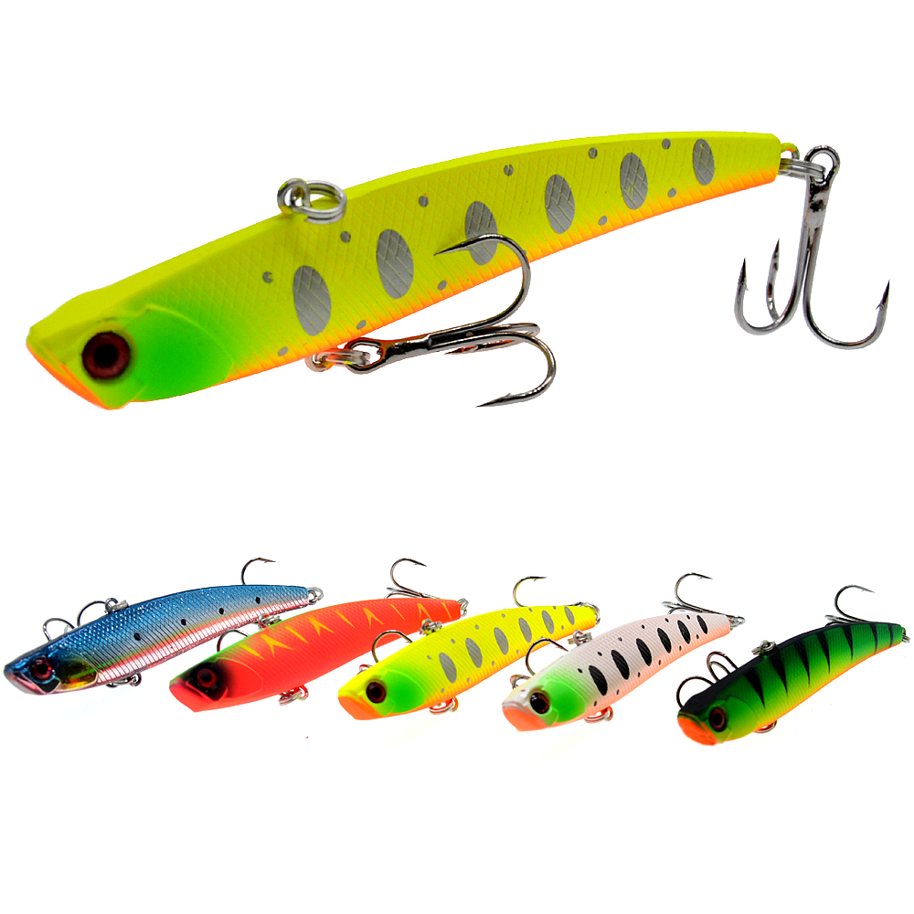 Sinking Vibration Fishing Lure 26g 95mm Hard Plastic Artificial VIB Winter Ice Fishing Pike Bait Tackle Isca Peche-in Fishing Lures from Sports & Entertainment