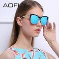 Aofly new estilo óculos de sol da moda semi-rimless óculos de sol para as mulheres designer de marca do vintage óculos gafas oculos de sol uv400