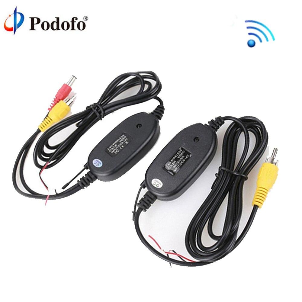 Podofo 2.4G Sans Fil Module Émetteur et Récepteur Inverse De Voiture Vue Arrière Caméra De Recul Moniteur Parking Assistance Véhicule Cam
