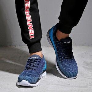 Image 4 - Marca novedosa zapatos de seguridad para el trabajo de los hombres, zapatos deportivos ligeros transpirables, zapatos casuales antideslizantes. Tamaño 36 45,3 color.