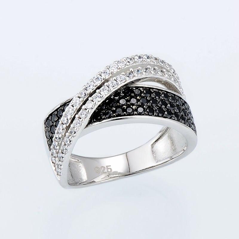 SANTUZZA Sølvring til kvinder 925 Sterling Sølv Fashion Runde Ringe - Mode smykker - Foto 4