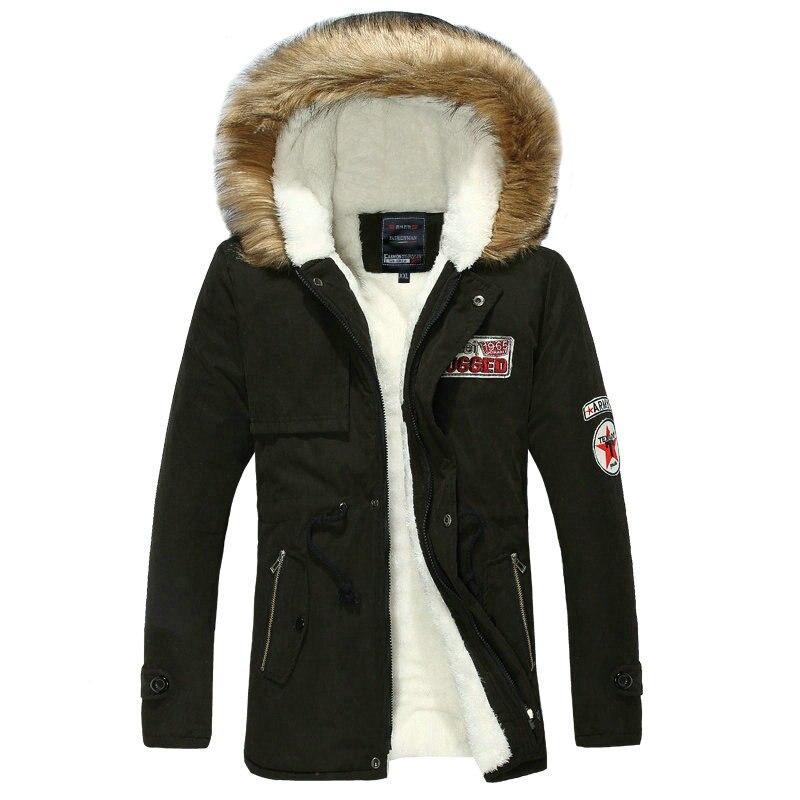 2018 Hot Selling Autumn Winter Long Parka Men Casual font b Slim b font Fit Hood