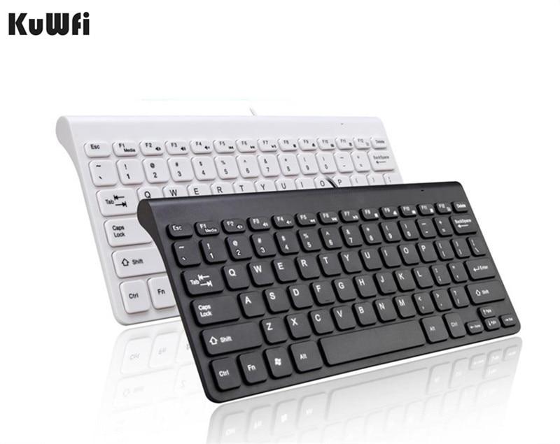 Ultra thin Quiet Waterproof Wired Keyboard 78 Keys Mini Multimedia USB Interface Keyboard For Desktop Laptop PC Macbook ...
