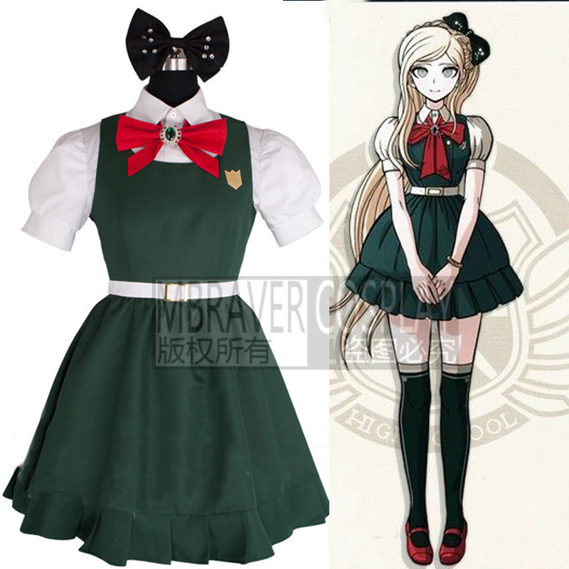 Anime Danganronpa Dangan-Ronpa Cosplay Costume Sonia Nevermind Cosplay Dress Any Size Customized