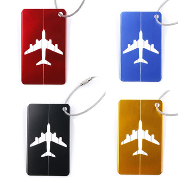 4PCS/SET Aluminium Travel Luggage Baggage Tag Suitcase Identity Address Name Labels (Black+blue+red+gold) Travel Accessories