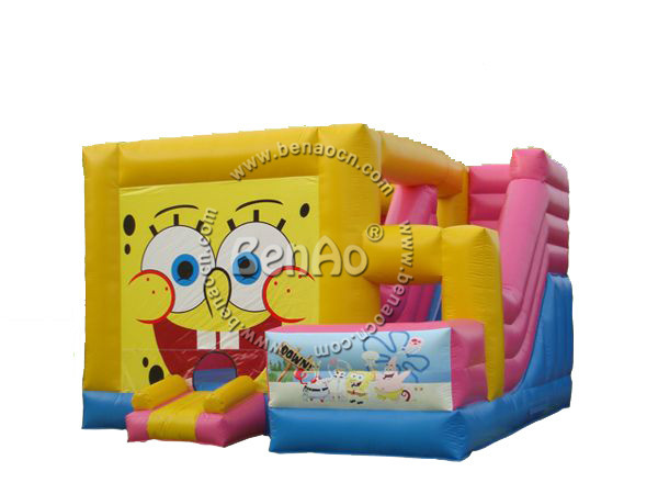 U031 Free shipping  Spongebob Inflatable Jumping Bouncing/PVC Bouncer House Toddler Moon House/PVC Bouncer House Toddler Moon